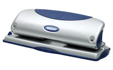 Rexel P425 Punch 4-Hole Metal with Nameplate Capacity 25x 80gsm Blue and Silver