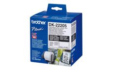 Brother Label Continuous Paper Tape 62mmx30.48m White