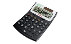 Aurora EcoCalc Calculator Desktop Large Recycled Solar and Battery Power 12 Digit 3 Key Memory