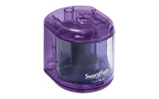 Swordfish Electric Pencil Sharpener Battery Operated Purple