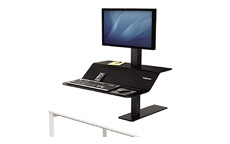 Fellowes 8080101 Lotus VE Sit-Stand Workstation - Single
