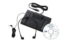 Olympus AS2400 Digital Transcription Kit RS-28 Footswitch E-102 Headset and DSS Software