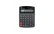 5 Star Calculator Desktop Solar/Battery Power 12 Digit 2 Set Memory