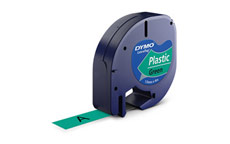 Dymo 91204 Green 12mm Plastic Tape