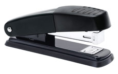 5 Star Stapler Half Strip Metal Top and Base Top Loading Capacity 20 Sheets Black