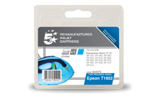 5 Star Compatible Inkjet Cartridge Capacity 3.3ml Cyan [Epson C13T18024010 Alternative]