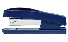 5 Star Office Half Strip Stapler Top Loading Rubber Base 26 Sheet Capacity Takes 26/6 Staples Blue