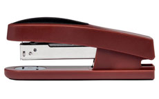 5 Star Office Half Strip Stapler Top Loading Rubber Base 27 Sheet Capacity Takes 26/6 Staples Red