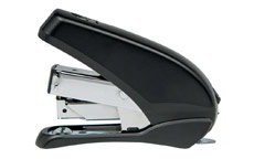 5 Star Office Power-Save Mini Half Strip Stapler 20 Sheet Capacity Takes 26/6 Staples Black/Grey