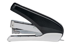 5 Star Office Power-Save Half Strip Stapler 40 Sheet Capacity Takes 26/6 Staples Black/Grey