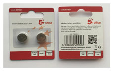 5 Star Batteries LR44 / 76 FSB-2 [Pack 2]