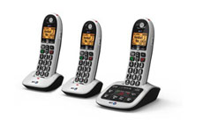 BT BT4600 Trio Big Button Dect Telephone with Answer Machine