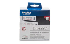 Brother DK22251 Red and Black on White Continuous Paper Tape 62mm