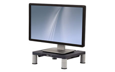 Fellowes Standard Monitor Riser 17in CRT 21in TFT Capacity 27kg 3 Heights 51-102mm Graphite