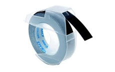Dymo S0898130 White on Black 9mm Embossing Tape