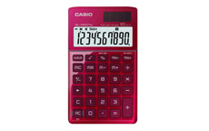 Casio SL-1000TW Handheld Calculator Red