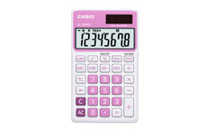 Casio SL-300NC Handheld Calculator Pink