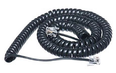 Titan Handset Curly Cord 12ft Black