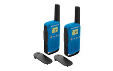 Motorola TLKR T42 Walkie Talkie Radio Twin Pack Blue