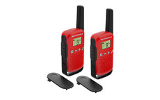 Motorola TLKR T42 Walkie Talkie Radio Twin Pack Red