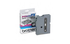 Brother TX335 White on Black 12mm gloss tape
