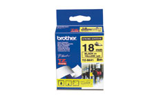 Brother TZES641 Black on Yellow 18mm strong adhesive tape