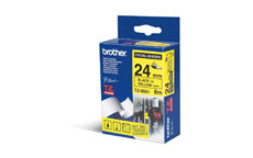 Brother TZES651 Black on Yellow 24mm strong adhesive tape
