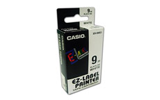 Casio XR-9WE Black on White 9mm tape