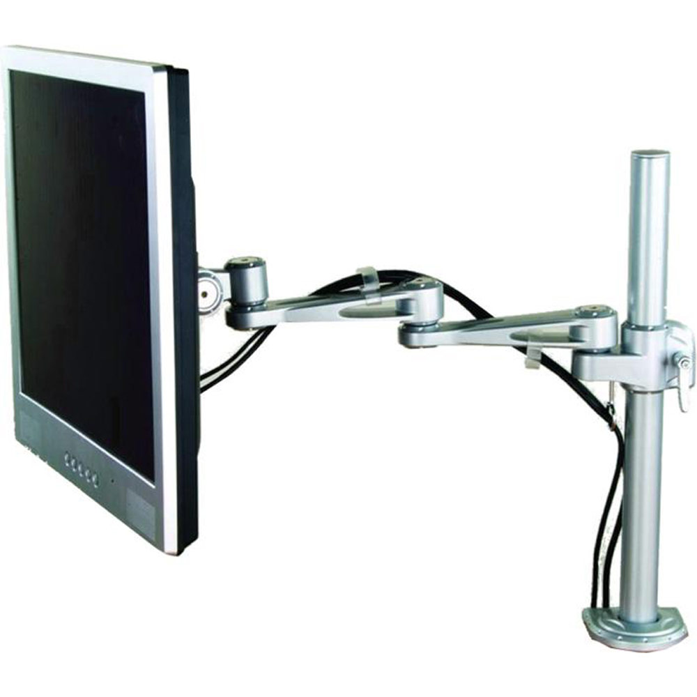 Lcd Desktop Mount 2 Way Adjustable Monitor Arm Up To 22in