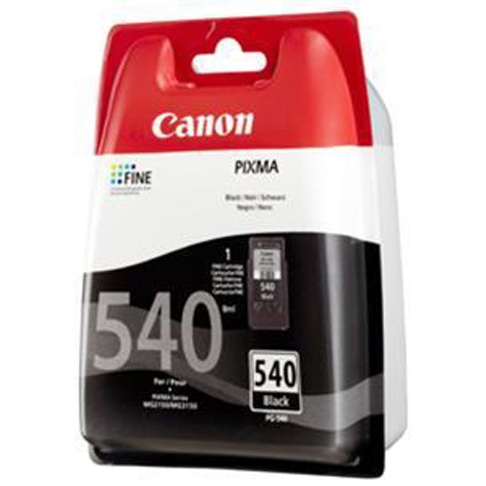 canon pg 540 inkjet cartridge page life 180pp black. Black Bedroom Furniture Sets. Home Design Ideas