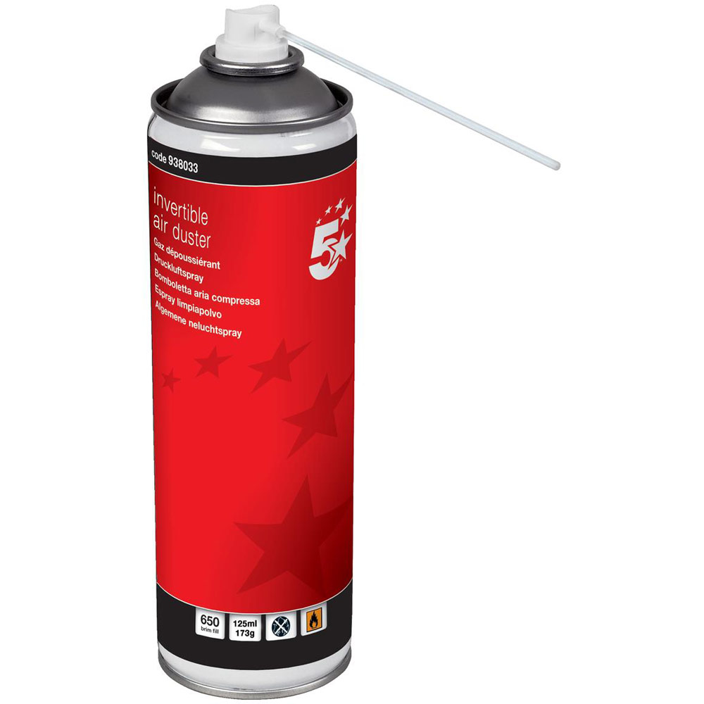 5 star compressed air duster non flammable 125ml. Black Bedroom Furniture Sets. Home Design Ideas